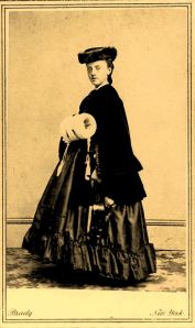 Beatrice de Trobriand, carte de visite by Matthew Brady, c. 1863-4. Photo provided by Bill Styple.
