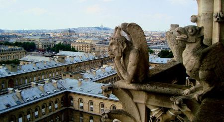 Notre Dame gargoyle Photo by William Styple