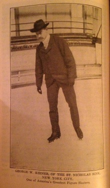 """George W. Kirner of the St. Nicholas Rink, New York City. One of America's Greatest Figure Skaters."""