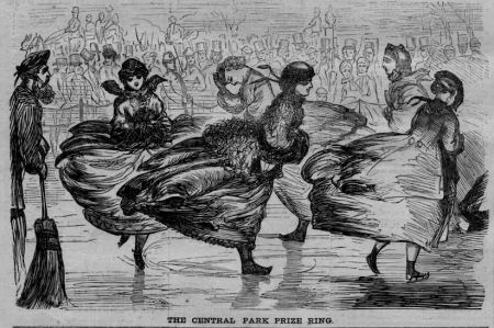 """The Central Park Prize Ring"", print, published in Harper's Weekly, Feb. 1867. Image provided by Bill Styple."