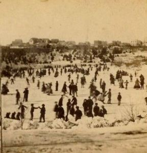 Skaters in Central Park, photograph by E. & H. T. Anthony, Photographers, 1866. Image provided by Bill Styple.