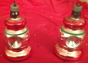 Two lovely lantern-like ornaments.