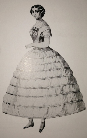 Make way for the USS Crinoline. Photo from Laver p.179.