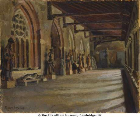 "Roger Fry, ""The Cloister"", 1924.The Fitzwilliam Museum, Cambridge University.This is not the Fry illustrated in the book. The photo was in my thesis archives."