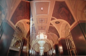 The lobby of the Waldorf-Astoria Hotel (1929-1931). Photo by Richard Berenholtz from New York Deco p. 42-43.