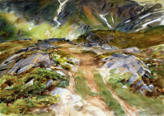 Simplon Pass: The Foreground by John Singer Sargent