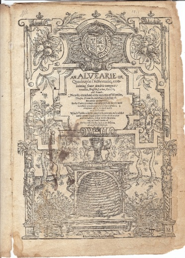 Shakespeare's supposed dictionary (Koppelman, via the Folger Shakespeare Library)