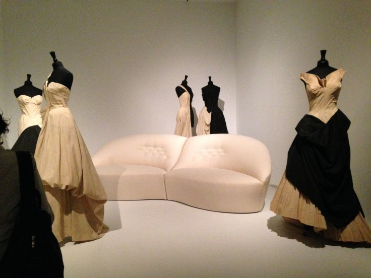 A series of mockups of James's gowns.