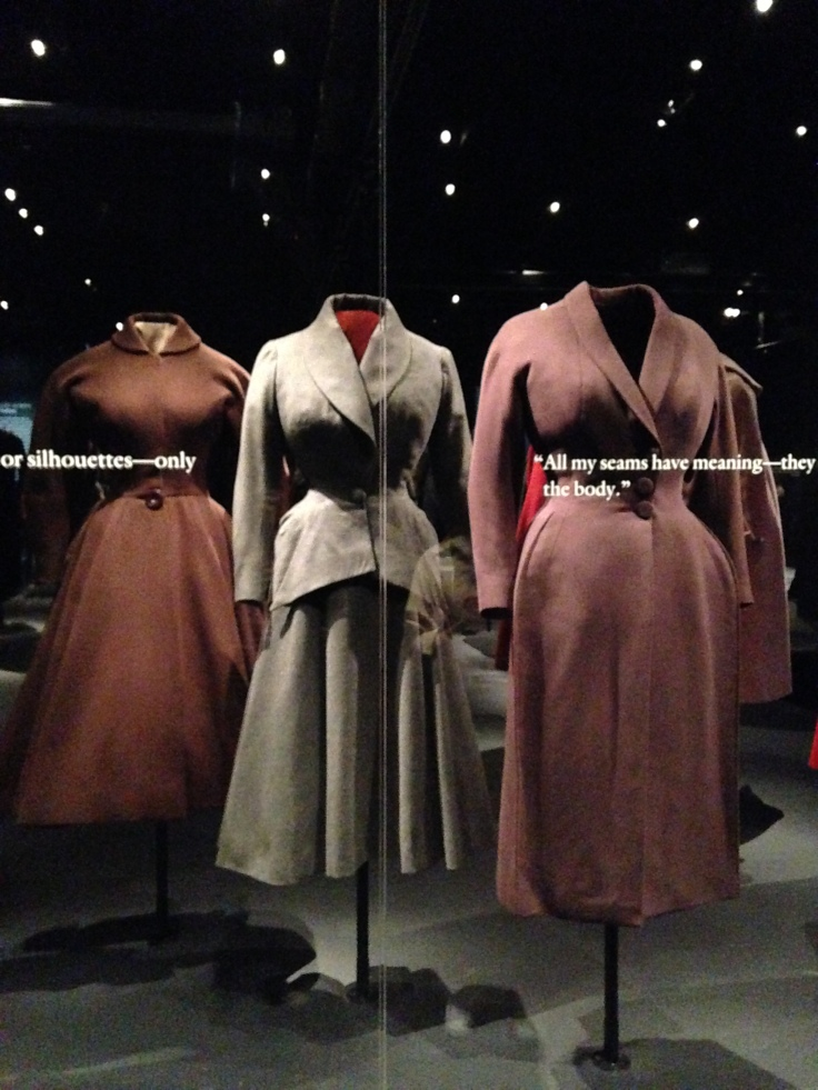 A selection of coats by Charles James.