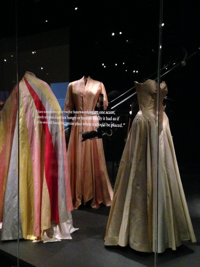 Costumes displayed downstairs in the Lizzie and Jonathan Tisch Gallery.