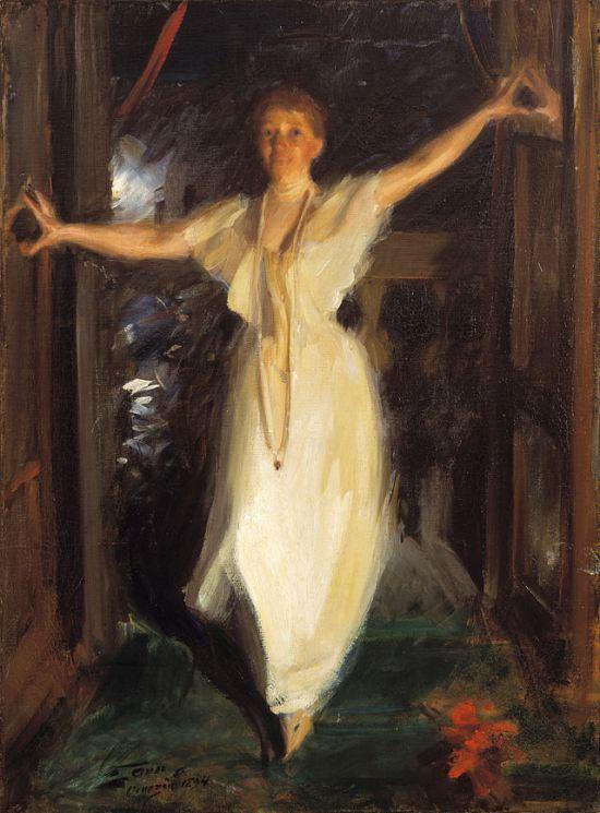 Isabella Stewart Gardner in Venice, 1894 as painted by Anders Zorn