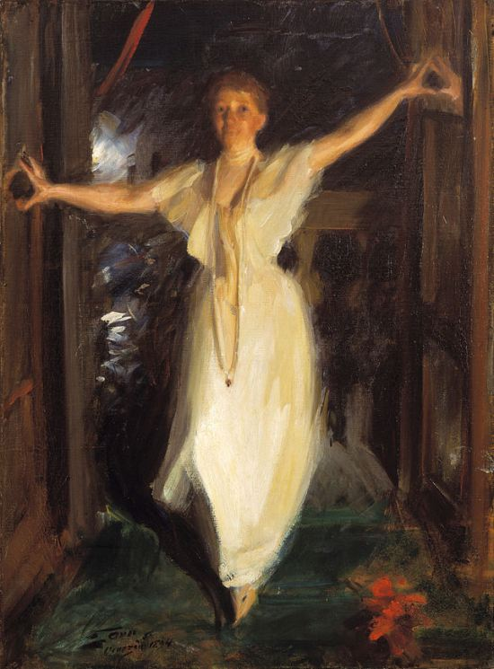 Isabella Stewart Gardner in Venice, 1894 as painted by Anders Zorn