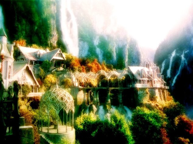 Rivendell (aka my true home) as seen in Peter Jackson's films. Each one is such a visual treat.
