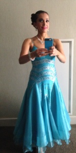 My blue competition dress.