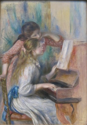 Pierre-Auguste Renoir, Girls at the Piano, 1892, Musee d'Orsay, Paris. Photo by me.