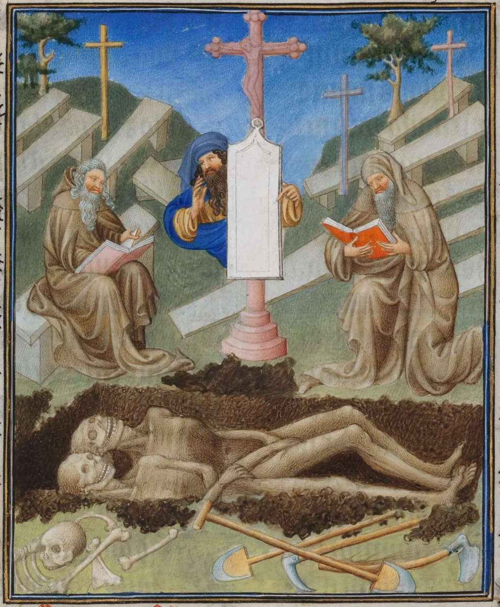 Belles Heures Office of the Dead (detail)