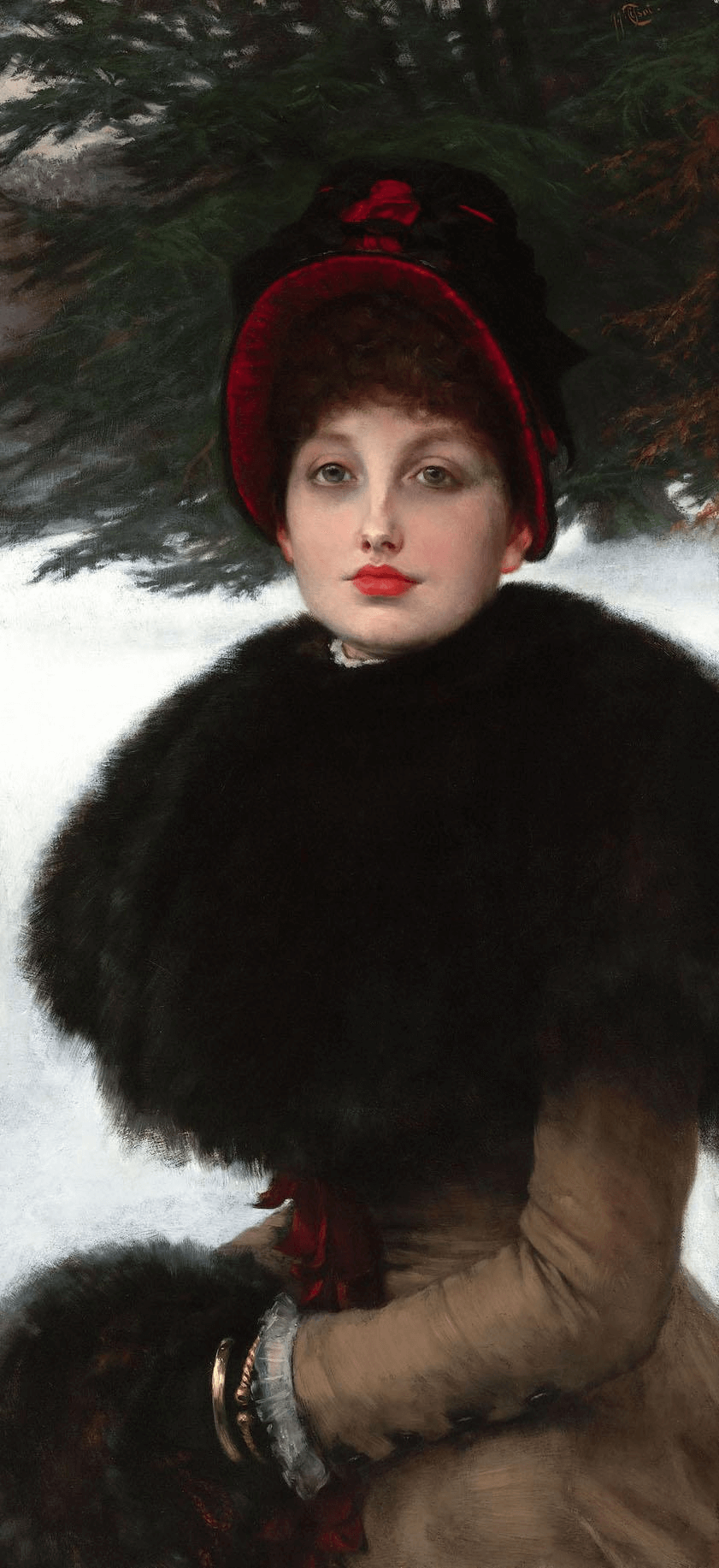 A Winter's Walk by Tissot