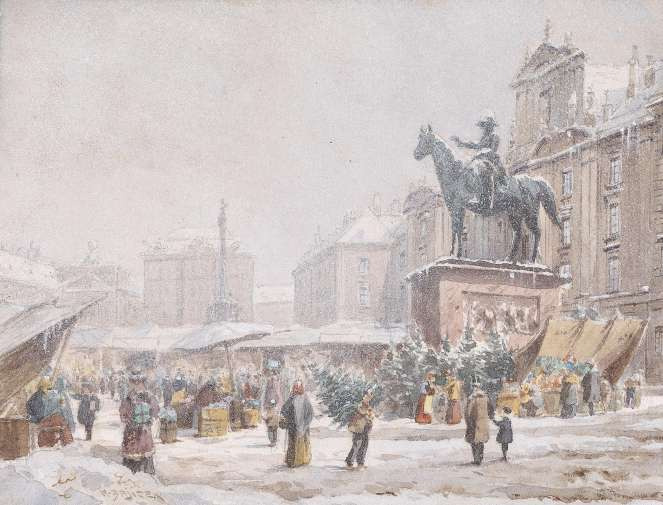 Christkindlmarkt Am Hof by Carl Wenzel Zaijcek