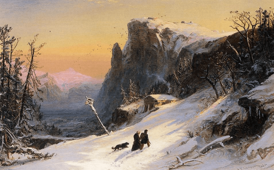 Winter in Switzerland by Jasper Francis Cropsey