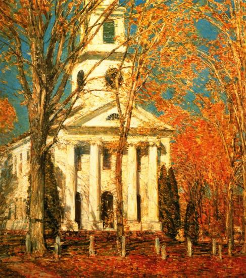church_at_old_lyme_childe_hassam