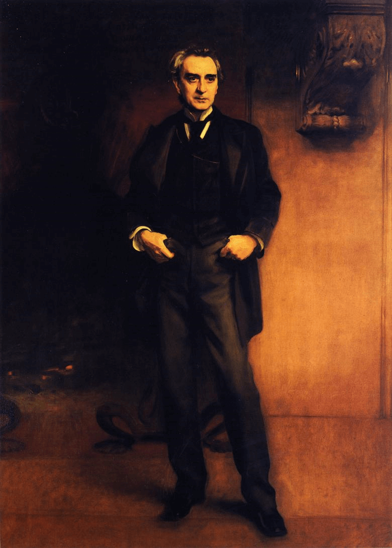 Edwin Booth by John Singer Sargent.