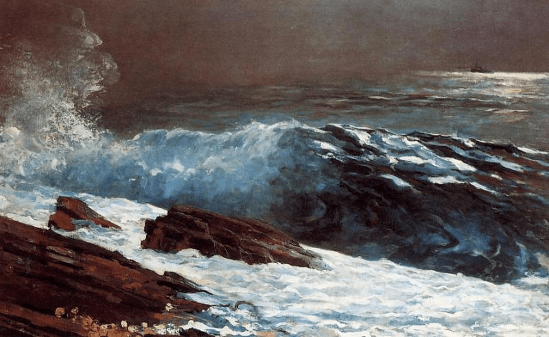 Sunlight on the Coast by Winslow Homer.