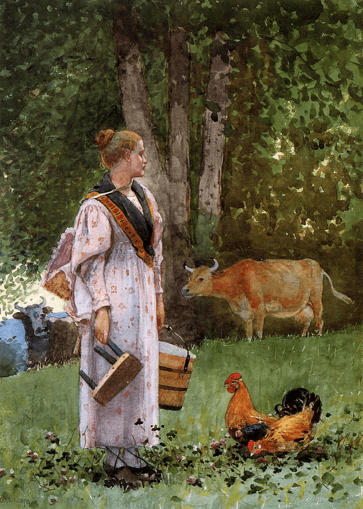 The Milk Maid by Winslow Homer