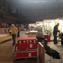 The fair doesn't officially begin until Thursday evening, but most of the exhibitors arrive Wednesday to set up.