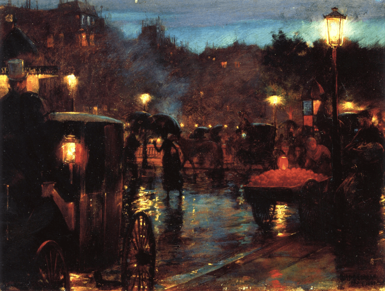 Paris La Nuit by Charles Courtney Curran