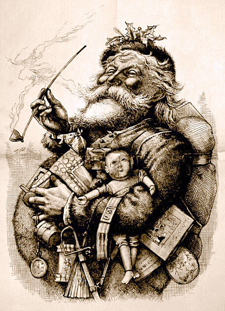 Santa Claus Imagery Through the Ages