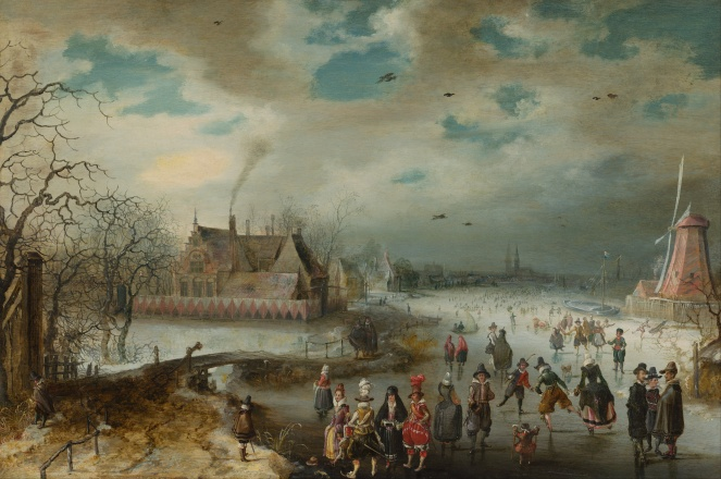 adam_van_breen_-_skating_on_the_frozen_amstel_river_-_google_art_project