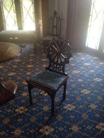 Gothic Revival furniture at Lyndhurst.