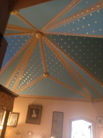Vaulted, hand-painted ceiling at Lyndhurst in Tarrytown, New York.