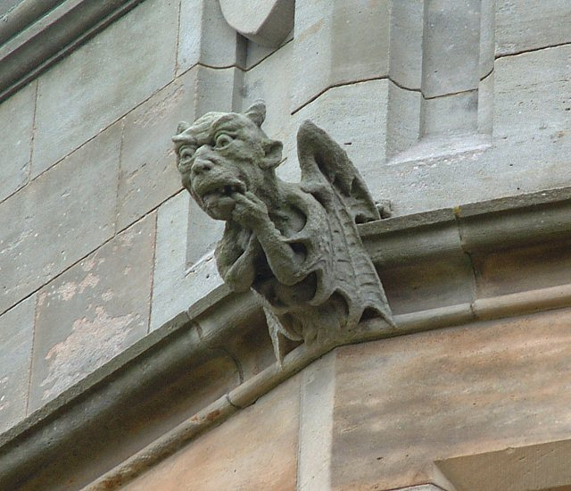 Bamburgh Castle grotesque