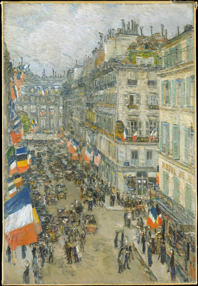 """July Fourteenth, Rue Daunou, 1910"" by Childe Hassam"
