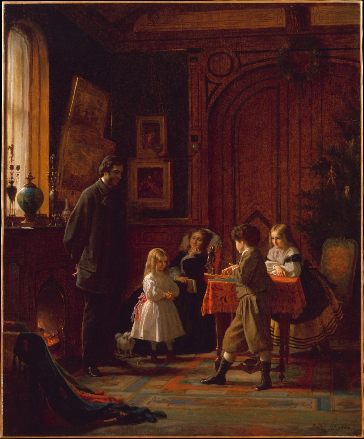 """Christmas-Time, The Blodgett Family"" by Eastman Johnson"