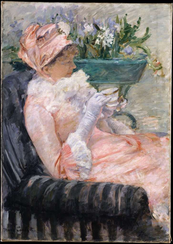 """The Cup of Tea"" by Mary Cassatt"