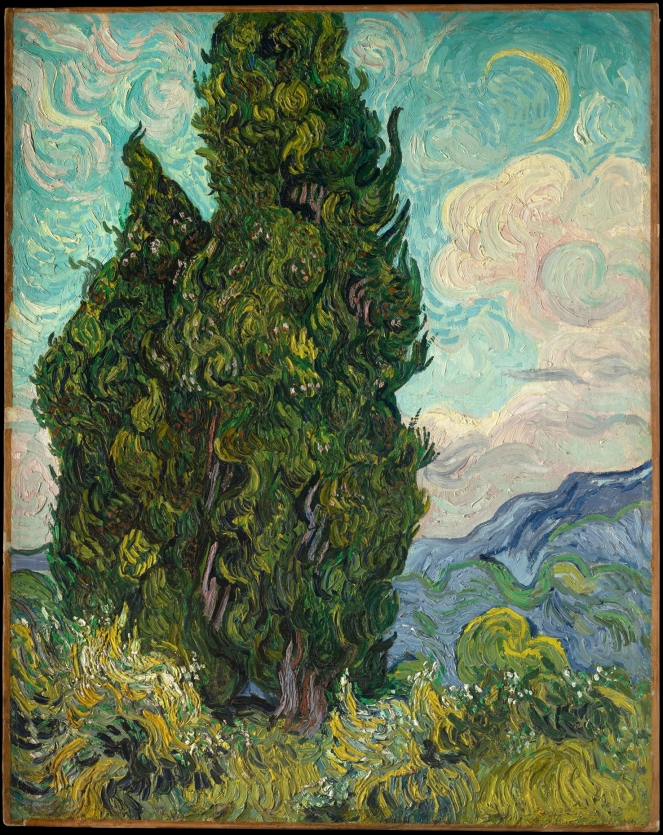 """Cypresses"" by Vincent van Gogh"
