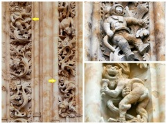 Very modern grotesques on the 16th-century New Cathedral in Salamanca, Spain. Submitted by Margo Lestz (thecuriousrambler.com). (thecuriousrambler.com).