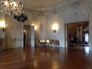 The Elms's ballroom - light and elegant.