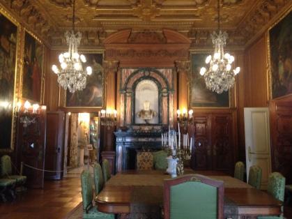 The Venetian dining room.