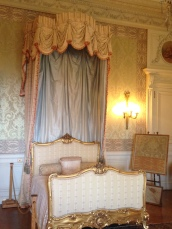 I believe this was Herminie Berwind's bedroom. The upstairs rooms at The Elms were fancier than at the other mansions.