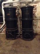 Water tanks.
