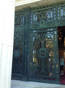Marble House front doors