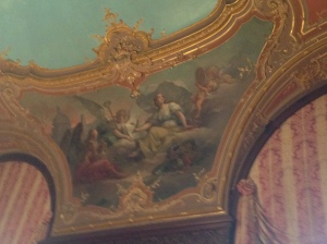 Marble House library ceiling
