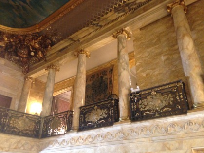 Marble House staircase landing
