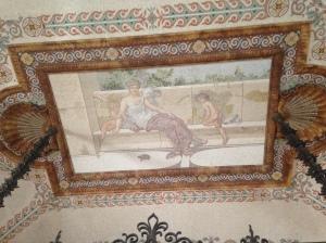 Roman mosaic ceiling