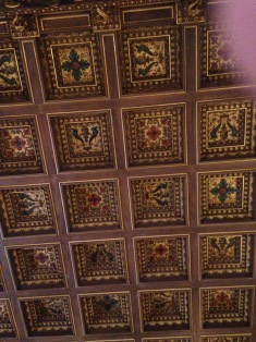 The Breakers library ceiling
