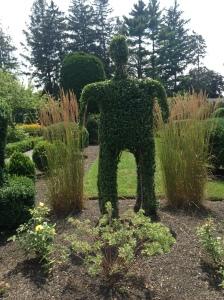 Policeman topiary