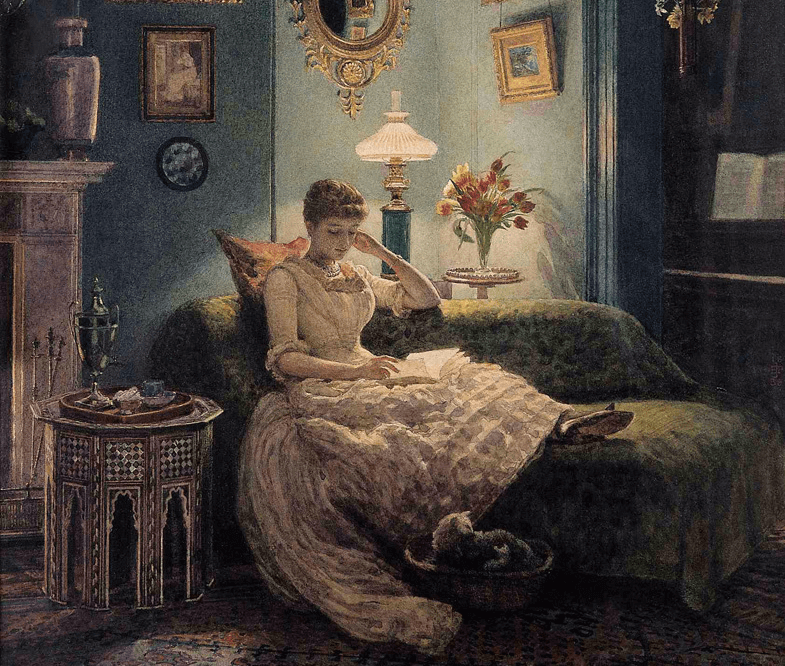 an-evening-at-home-sir-edward-john-poynter cropped